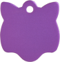 Aluminum Purple Cat Pet Tag