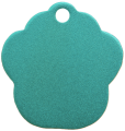 Aluminium Green Paw Pet Tag