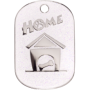 White Sparkle Small Home Pet Tag