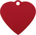 Aluminum Red Heart Pet Tag