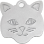 Stainless Cat Pet Tag