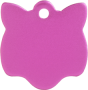 Aluminium Pink Cat Pet Tag
