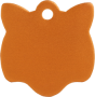 Aluminium Orange Cat Pet Tag