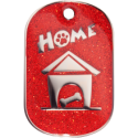 Red Sparkle Large Home Pet Tag