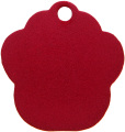 Aluminum Red Paw Pet Tag