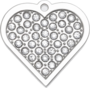 Twinkle Bling Heart Pet Tag