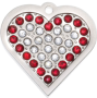 Ruby Bling Heart Pet Tag