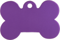 Aluminum Purple Bone Pet Tag