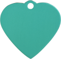 Aluminium Green Heart Pet Tag