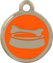 Bone Bowl Orange Pet Tag