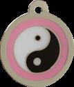 Ying Yang Pink Pet Tag