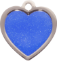 Blue Sparkle Small Heart Pet Tag