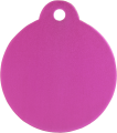 Aluminium Pink Disc Pet Tag