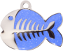 Dark Blue Sparkle Fish Pet Tag