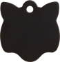 Aluminum Black Cat Pet Tag