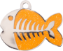 Orange Sparkle Fish Pet Tag