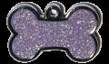 Purple Sparkle Small Bone Pet Tag