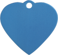 Aluminium Blue Heart Pet Tag