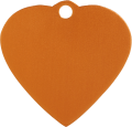 Aluminium Orange Heart Pet Tag