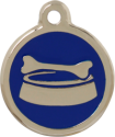 Bone Bowl Blue Pet Tag