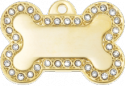Ziggy Large Bling Bone Pet Tag