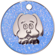 Blue Glitter Dog Pet Tag