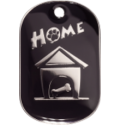 Black Large Home Pet Tag