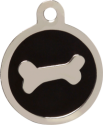 Bone Black Pet Tag
