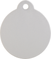 Aluminum Silver Disc Pet Tag