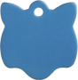 Aluminium Blue Cat Pet Tag