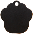 Aluminium Black Paw Pet Tag