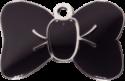 Black Large Bow Tie Pet Tag