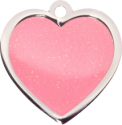 Pink Sparkle Large Heart Pet Tag