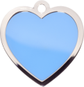 Blue Large Heart Pet Tag