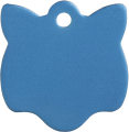 Aluminum Blue Cat Pet Tag
