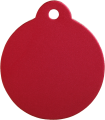 Aluminium Red Disc Pet Tag
