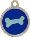 Bone Two Tone Blue Pet Tag