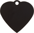 Aluminium Black Heart Pet Tag