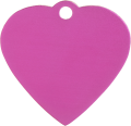 Aluminum Pink Heart Pet Tag