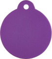 Aluminium Purple Disc Pet Tag