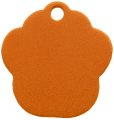 Aluminium Orange Paw Pet Tag