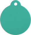 Aluminum Green Disc Pet Tag