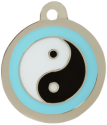 Ying Yang Blue Pet Tag