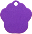 Aluminium Purple Paw Pet Tag