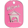 Pink Small Home Pet Tag