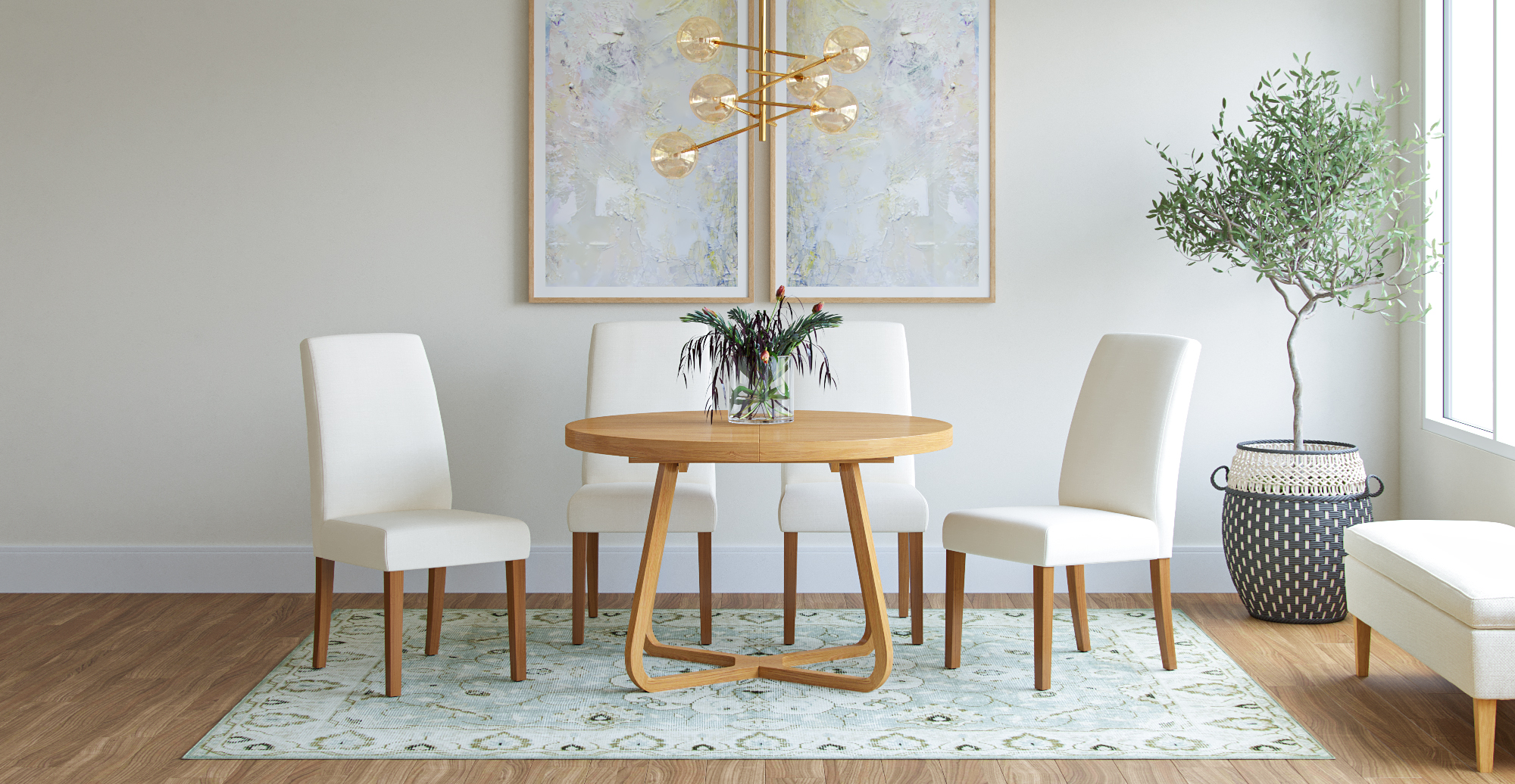 Brosa Grace Set of 2 Dining Chairs styled in classic traditional dining room