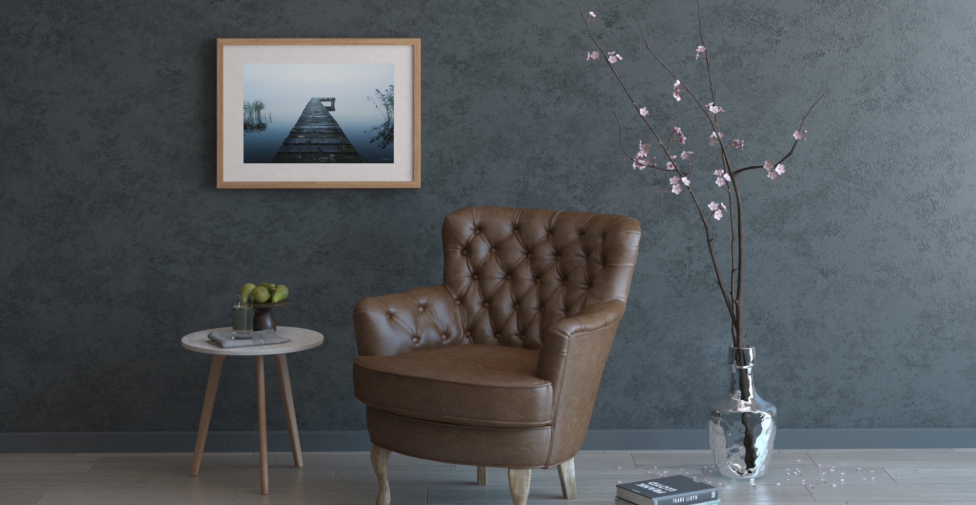 Brosa The Jetty Print styled in mid century living room