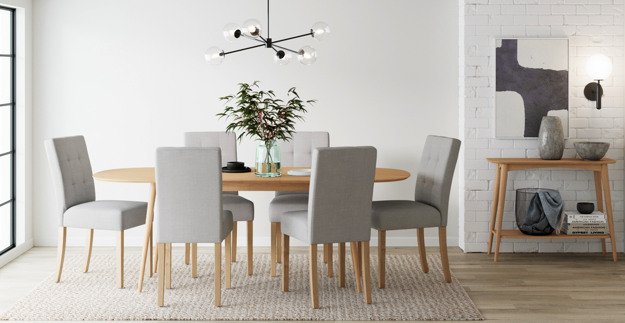 Brosa Jessica Set of 2 Dining Chairs styled in classic traditional dining room