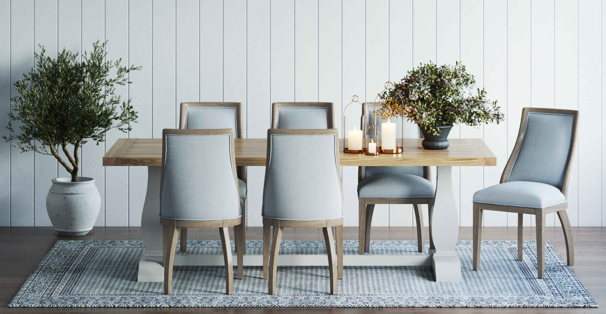 Brosa Normandy Dining Chair styled in classic traditional dining room