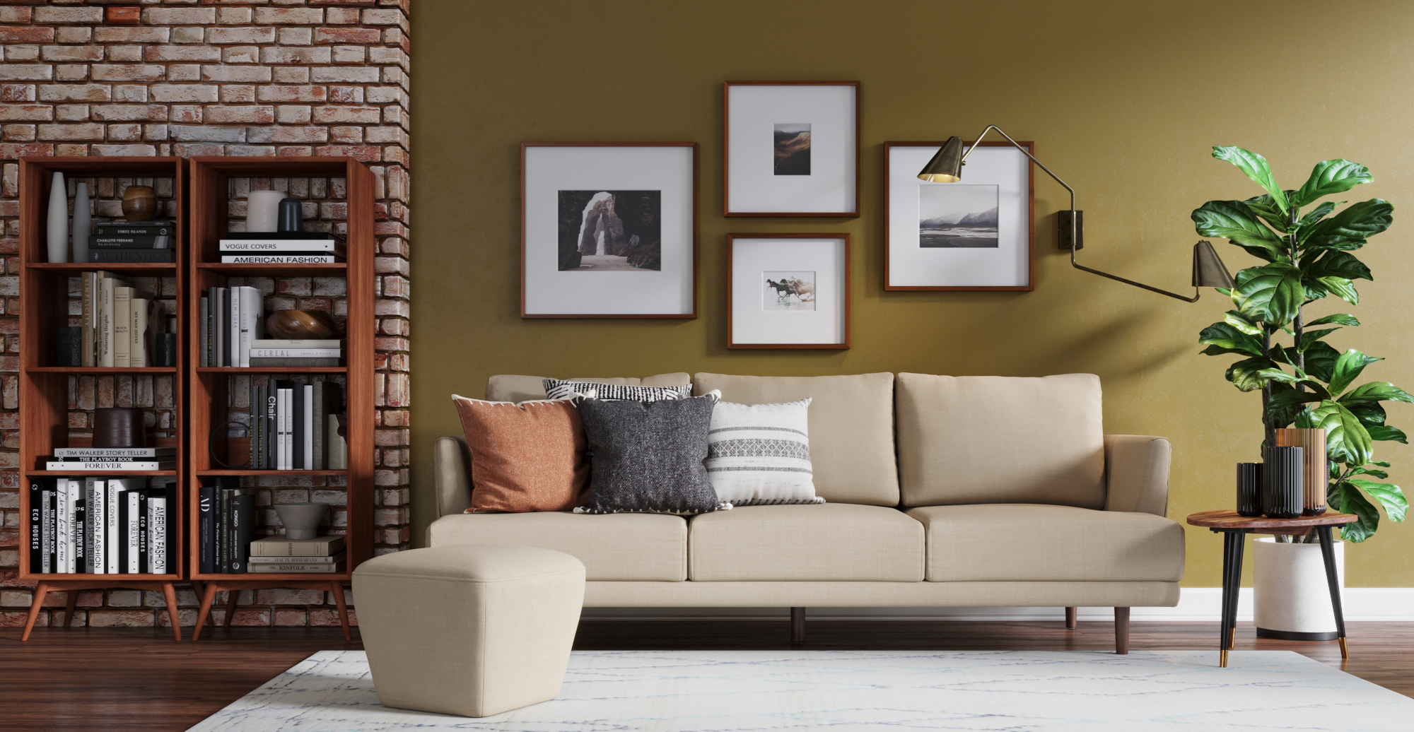 Brosa Christoph 3 Seater Sofa styled in classic traditional living room